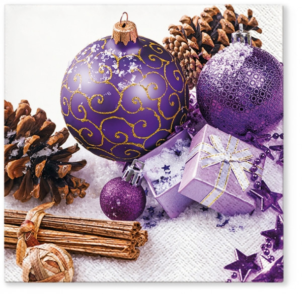 "Servietten ""Purple Baubles"""