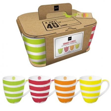 Mugs Set of 4 Summer Stripes
