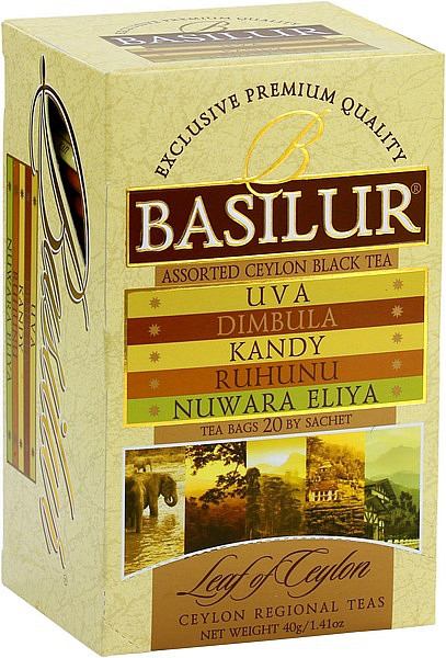 "Basilur Tea ""Leaf of Ceylon Assorted"" Teebeutel"