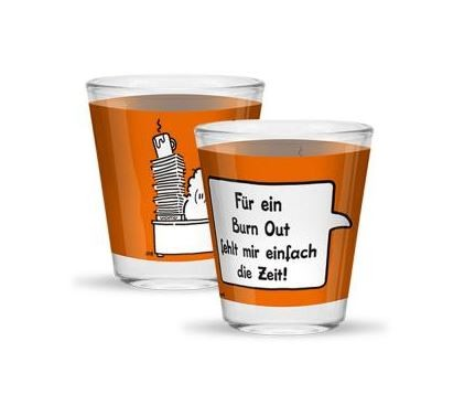 Schnapsglas »Burn out«