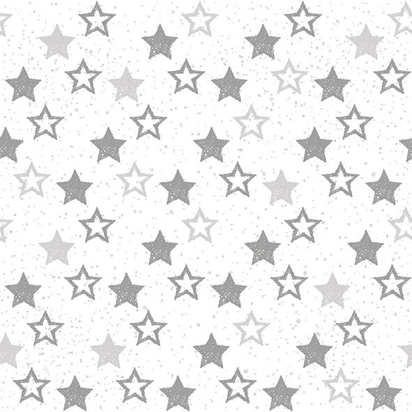 "Servietten ""Stars All Over Silver"""