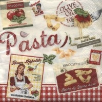 "Servietten ""vintage home collection pasta"""