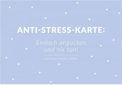 "Postkarte ""Anti-Stress-Karte"""