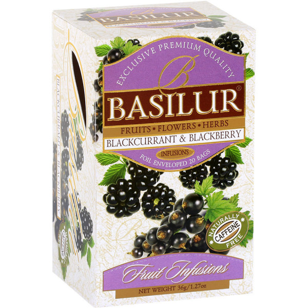 "Basilur Tea ""Blackcurrant & Blackberry"" Teebeutel"