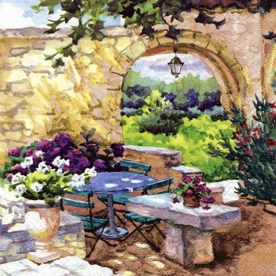 "Servietten ""Patio Morning in Provence"""