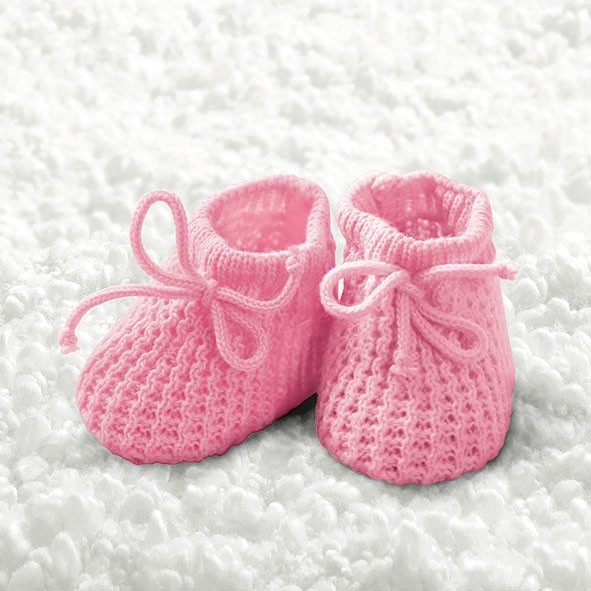 "Servietten ""Baby Girl Booties"""