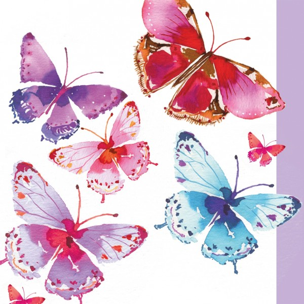 "Servietten ""Aquarell Butterflies"""