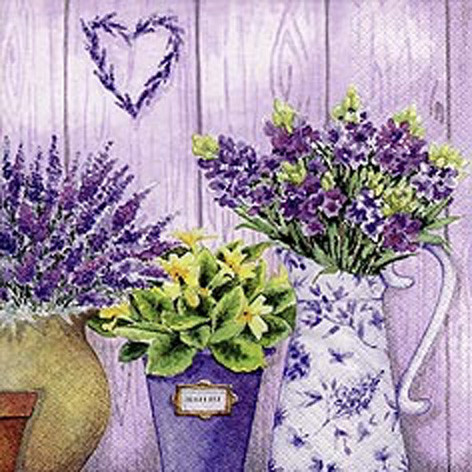 "Servietten ""Lilac Flowers with Heart"""