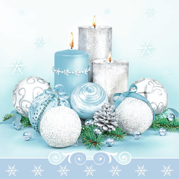 "Servietten ""Xmas Blue & Silver Composition"""
