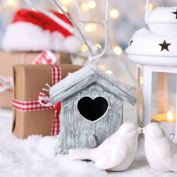 "Servietten ""Christmas Birdhouse"""