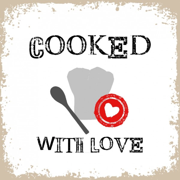 """Servietten """"Cooked with Love"""""""