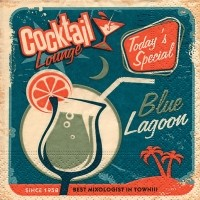"Servietten ""blue lagoon"""